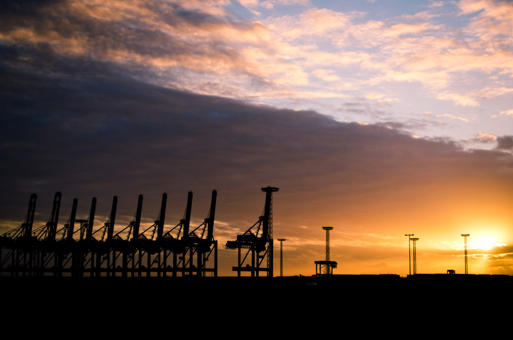 9+1 Bremerhaven Sunset Sonnenuntergang Harbour Hafen Sky Himmel