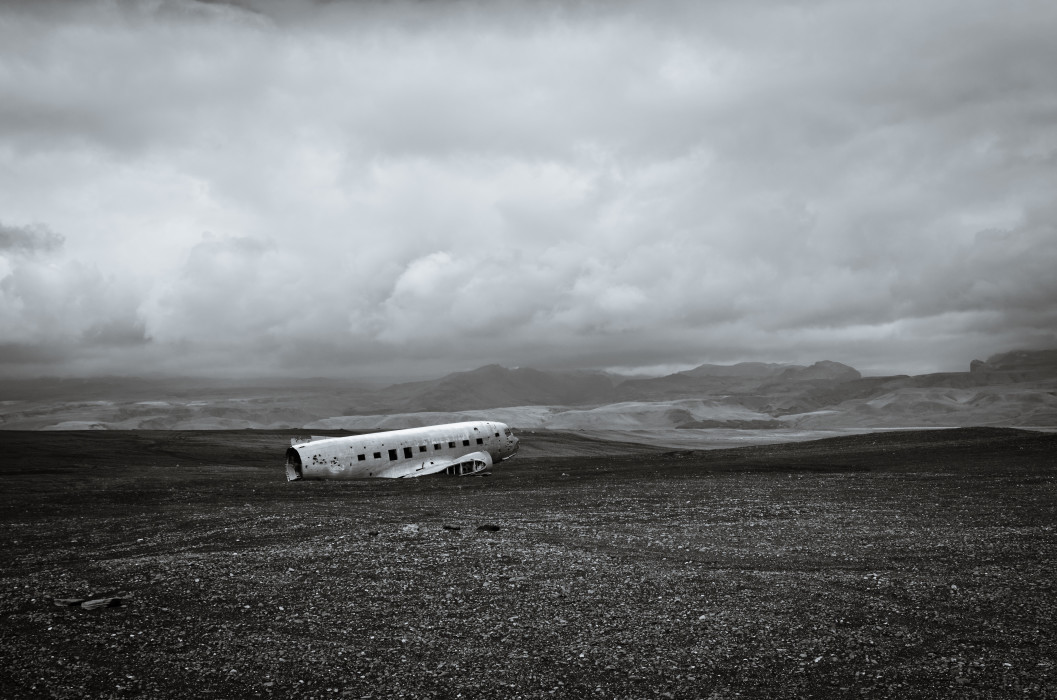 Castrated DC-3 Plane Wreck Iceland Island