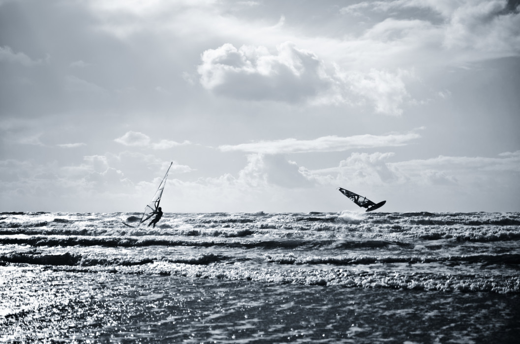 Flying Rømø Beach Strand Surfing Sea Meer