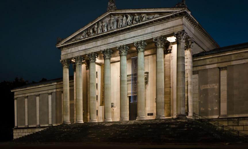 Hephaistos Munich München Antikensammlung Museum Architecture Architektur Night Nacht City Stadt