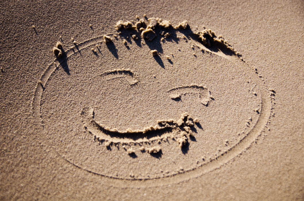Keep smilin Rømø Beach Strand Sand