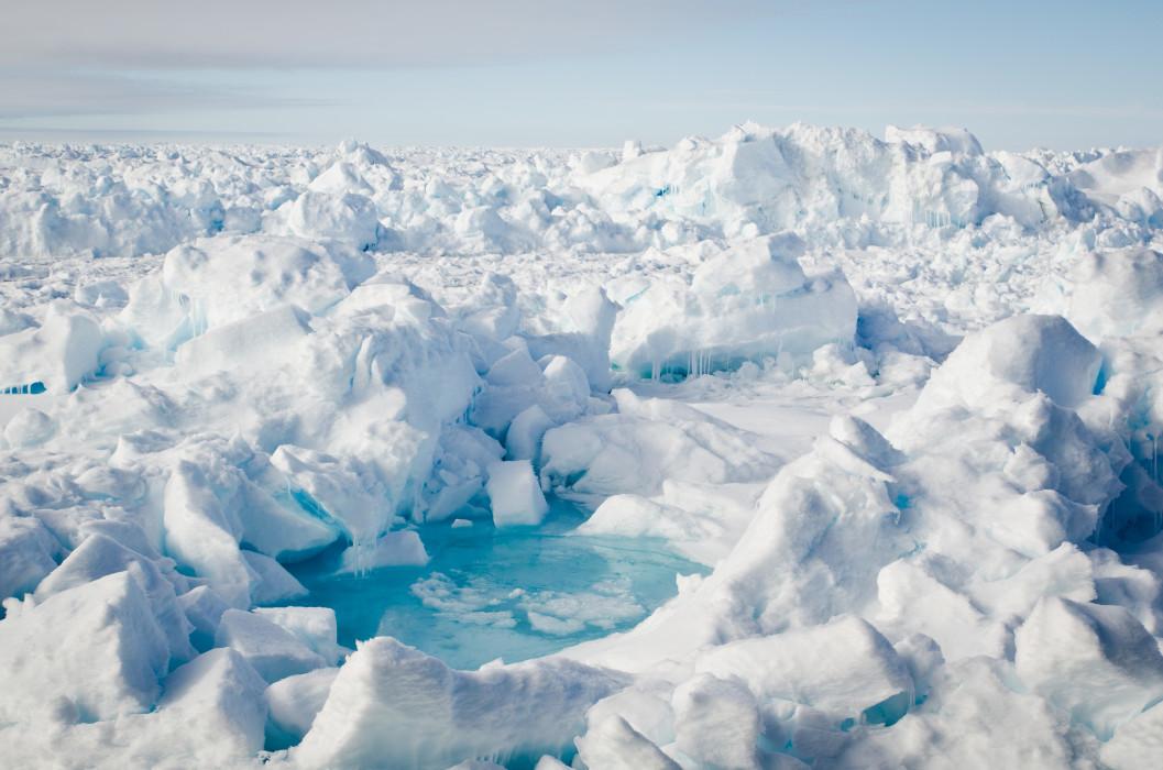 Melting pond RV Polarstern Fram Strait Arctic Arktis Ice Eis