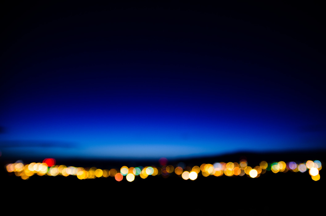 Midnight sun Reykjavik Night Nacht Bokeh