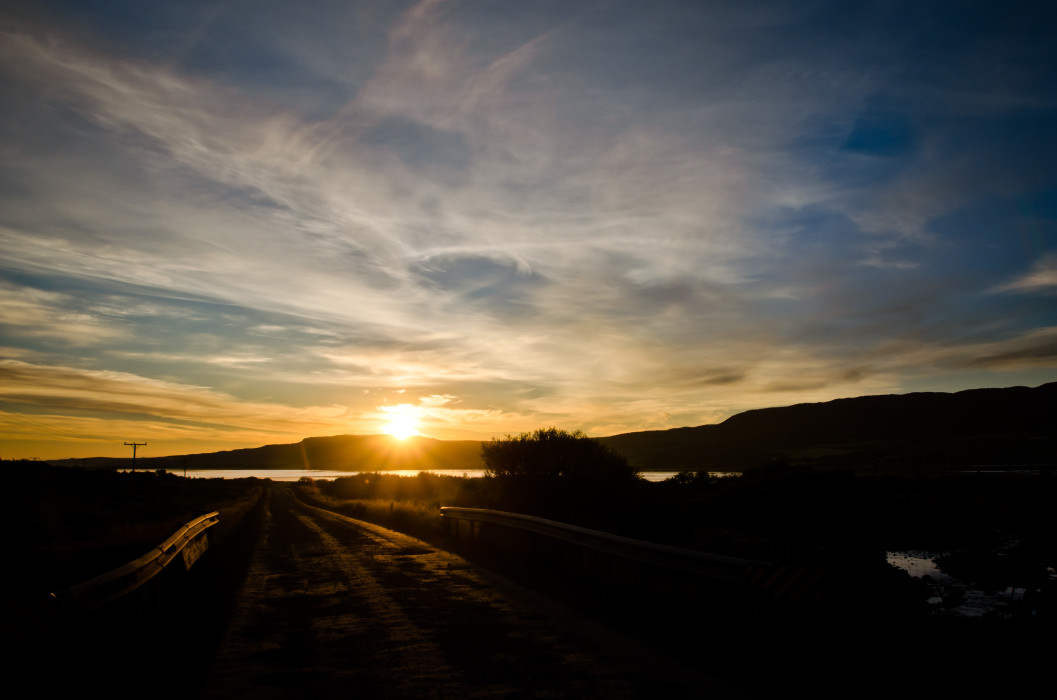 Moment Borgarnes Iceland Island Lake See Sunset Sonnenuntergang Sky Himmel