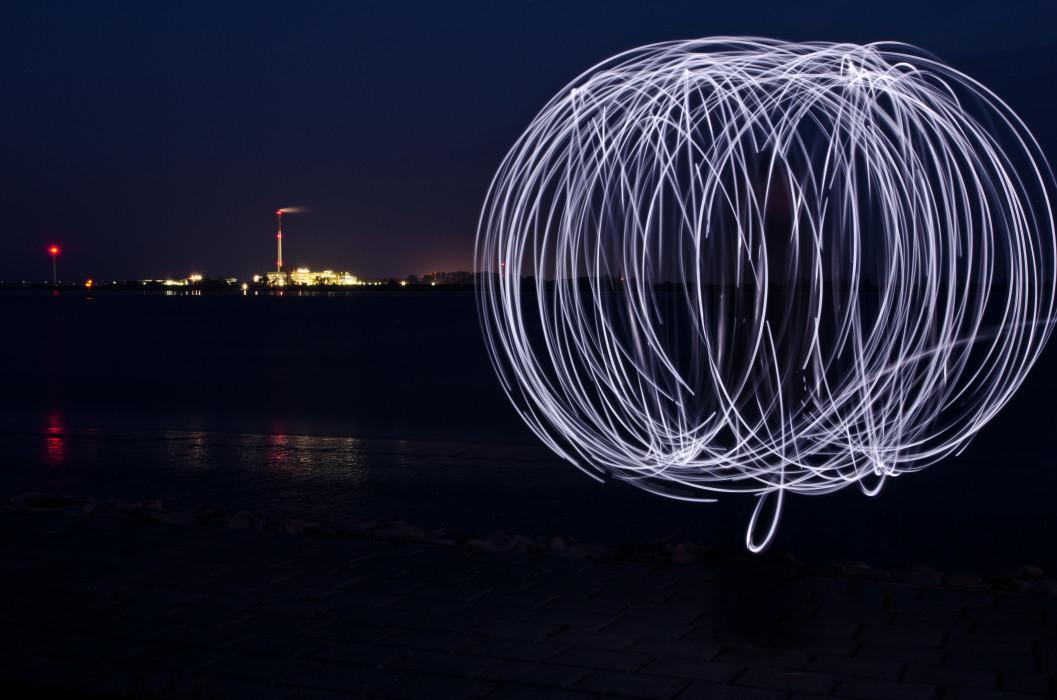 Orb Night Nacht Lightpainting Langzeitbelichtung