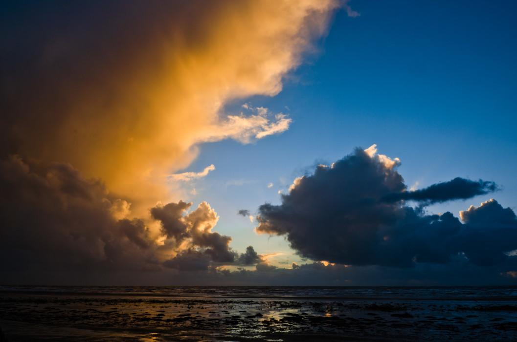 Sky and Sand Rømø Sunset Sonnenuntergang Sea Meer Sky Himmel