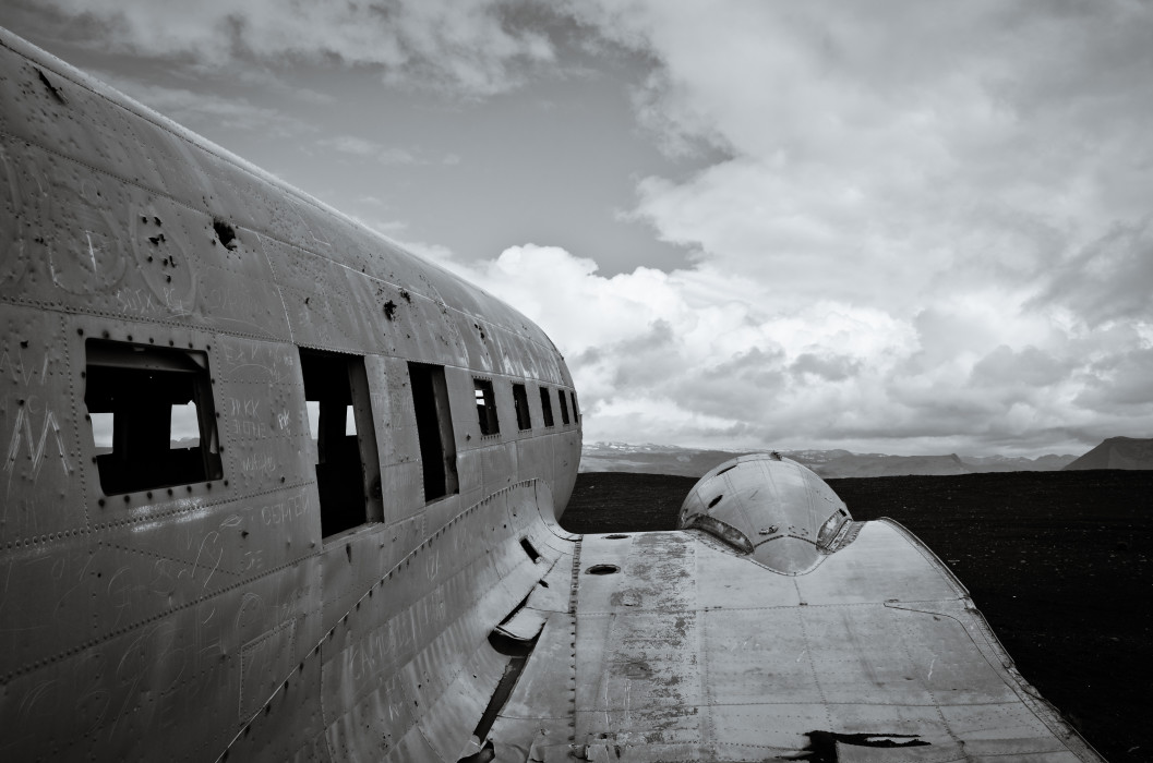 Something is missing DC-3 Plane Wreck Iceland Island