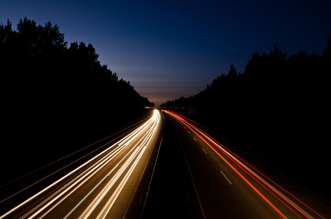 Speed Autobahn Night Nacht Time exposure Langzeitbelichtung Car Auto