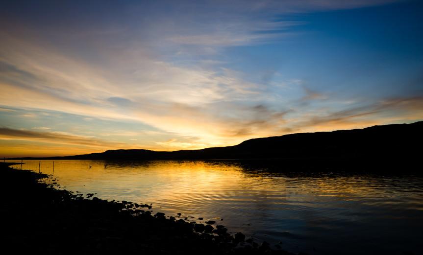 Tranquility Borgarnes Iceland Island Lake See Sunset Sonnenuntergang Sky Himmel